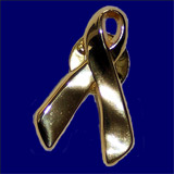 Metal gold ribbon