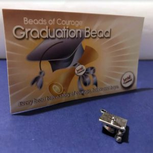 Graduation pewter bead of courage